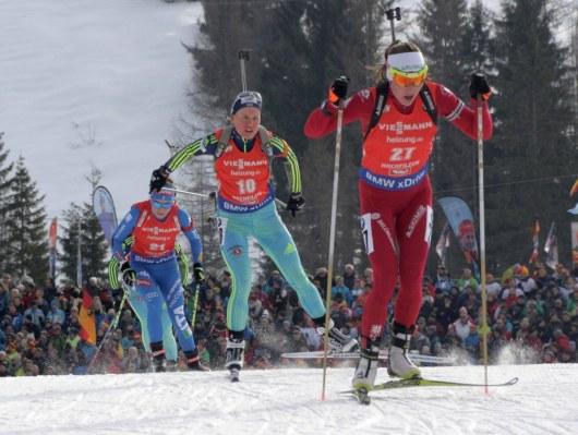 Украинка срекордом завершила гонку преследования начемпионате мира побиатлону